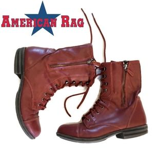 American Rag Red Combat Boots